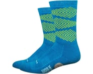 """DeFeet Woolie Boolie Comp 6"""" Fishbone Socks (Blue) 