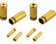 Jagwire End Cap Hop-Up Kit 4.5mm Shift and 5mm Brake (Gold) | product-related