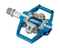 HT T1 Enduro Race Pedals (Blue) (Dual Sided) (Clipless w/ Platform)