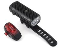 Lezyne Mega Drive 1800I Pro Headlight & Tail Light Set (Black/High Gloss)