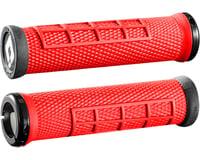 ODI Elite Flow Lock-On Grips (Burnt Red/Black)