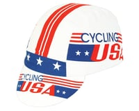 Pace Sportswear Cycling USA Cap (Red/White/Blue) (One Size Fits Most)