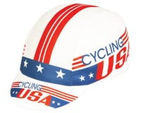 Pace Sportswear Coolmax Cycling USA Cap (Red/White/Blue) (One Size Fits Most)