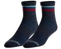Pearl Izumi Merino Wool Socks (Navy/Adobe Stripe)