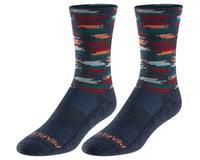Pearl Izumi Merino Thermal Wool Socks (Navy Mesa Dash)