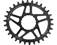 Wolf Tooth Components PowerTrac Drop-Stop Oval Chainring (Black) (Cinch)