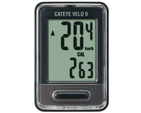 CatEye Velo 9 Bike Computer (Black) (Wired)