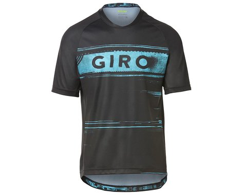 Giro Men's Roust Short Sleeve Jersey (Black/Iceberg Hypnotic) (S)