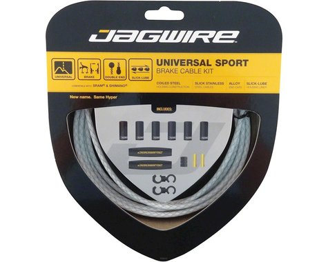 Jagwire Universal Sport Brake Cable Kit (Braided White) (Stainless)