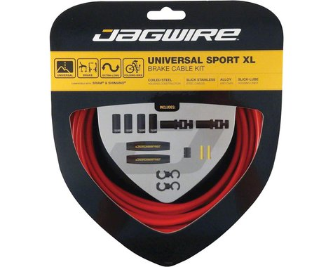 Jagwire Universal XL Sport Brake Cable Kit (Red) (Stainless) (2000/25000mm) (2)