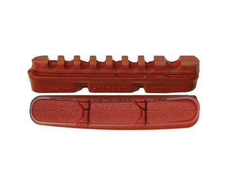 Kool Stop Dura2 Brake Pad Inserts - Black and Salmon (Salmon)