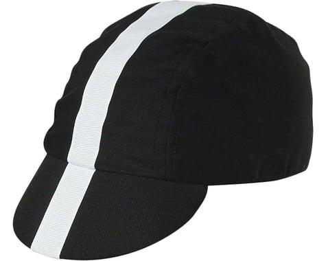 Pace Sportswear Classic Cycling Cap (Black w/ White Tape) (M/L)