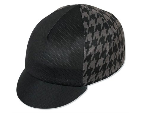 Pace Sportswear Traditional Mini Houndstooth Cycling Cap (Black/Grey)