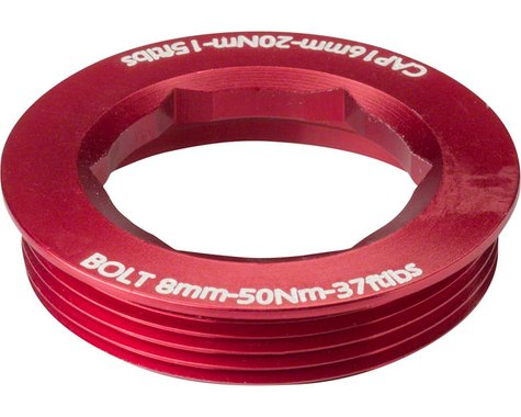 Race Face CINCH Puller Cap w/ Washer (Red) (18mm) (XC/AM)