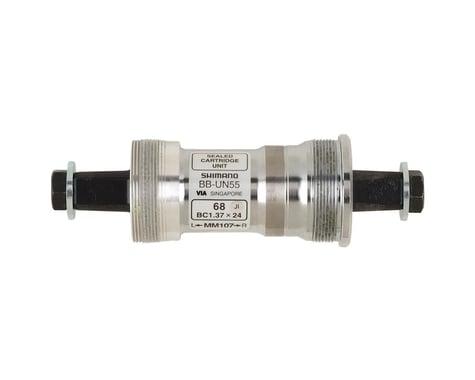 Shimano UN55 Square Taper Bottom Bracket (Silver) (BSA) (68mm) (107mm)